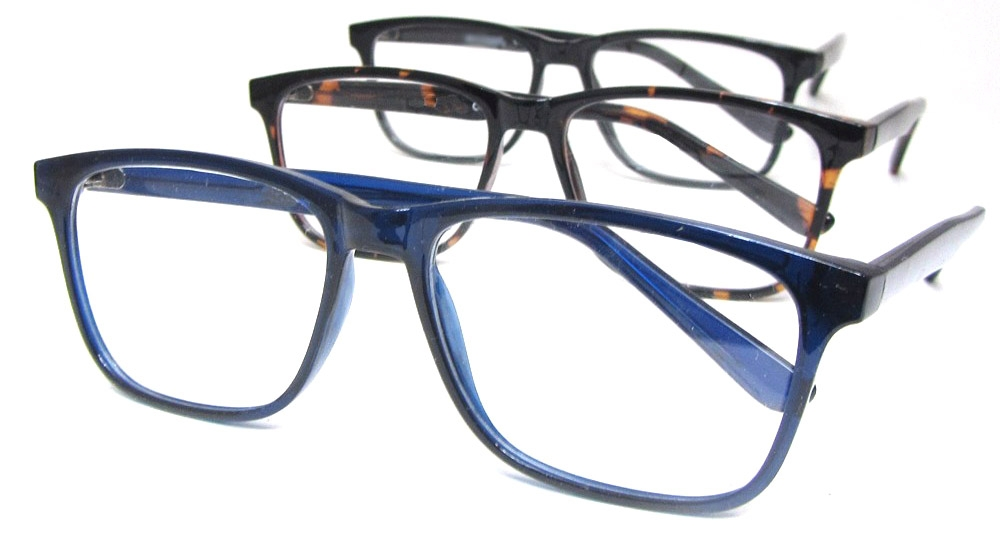 Extra Large Square Men's Readers in Blue